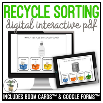 Which RECYCLE Bin Does It Go In? Digital Interactive Task Card Activity