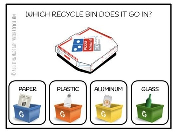 Which RECYCLE Bin Does It Go In? Task Clip Cards Life Skills