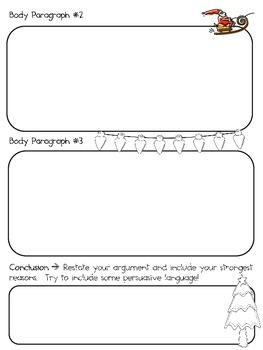 Which Reindeer is Santa's Favorite?  Why? ~ Persuasive Writing Pack