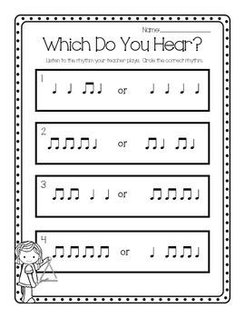 Which Rhythm Do You Hear Worksheet