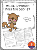 Which Sentence Does Not Belong - Non-Fiction