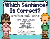 Which Sentence is Correct? A Verb Tense Practice Activity - ELL - Grammar