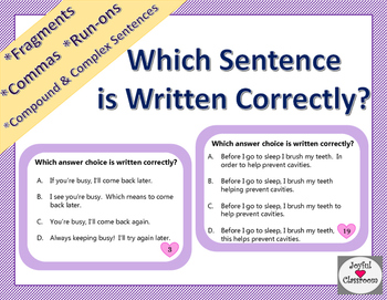 Which Sentence is Written Correctly?