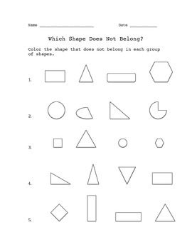 Which Shape Does Not Belong?