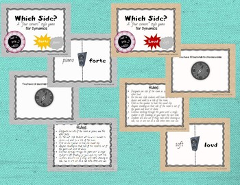 Which Side? - A four corners style 7 Game BUNDLE {Musical Opposites}
