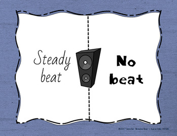 Which Side? - A four corners style Tempo Game {beat no beat}