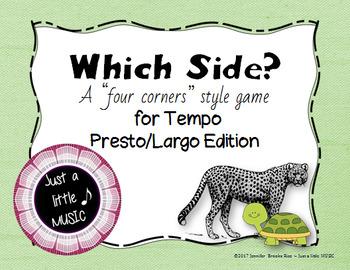Which Side? - A four corners style Tempo Game {presto largo}