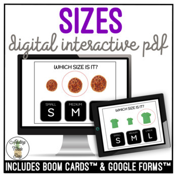 Which Size Is It? Digital Interactive Activity Life Skills Special Education