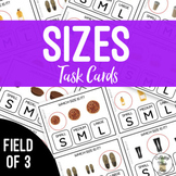 Sizes - Small Medium Large Field of 3 Task Cards