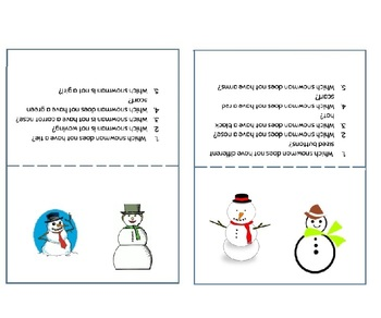 Which Snowman Does Not Have? Language Activity