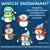 Which Snowman - Targeting top middle bottom and same diffe
