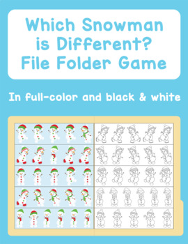 Which Snowman is Different File Folder Game
