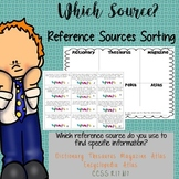 Which Source? Reference Book Sorting Activity