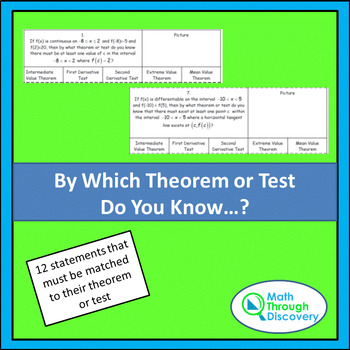 Which Theorem or Test Is It?