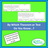 Calculus - By Which Theorem or Test Do You Know . . .