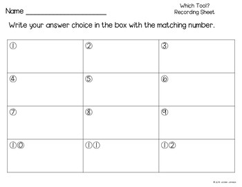 Which Tool? - Measurement Task Cards