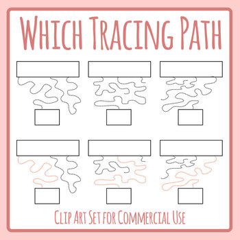 Which Tracing Path to the End with Solutions Pencil Control Clip Art Set