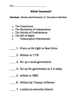 Which US Document?