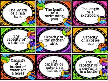 Which Unit? Measurement Task Cards