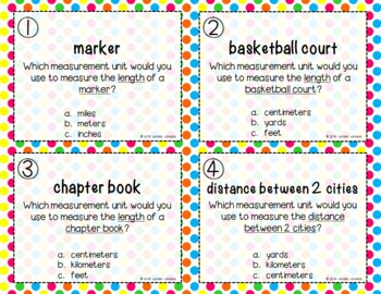 Which Unit? - Measurement Task Cards