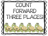 Counting Forward: Cute Turtles (Kindergarten Task Cards)