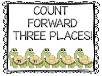 Counting Forward: Kindergarten Task Cards (CuteTurtles)