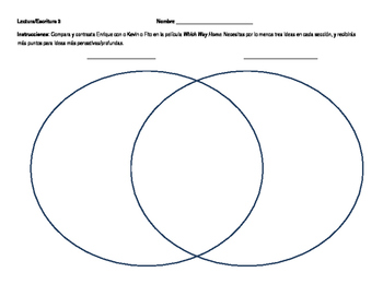 Which Way Home movie compare contrast worksheet - La Travesía de Enrique