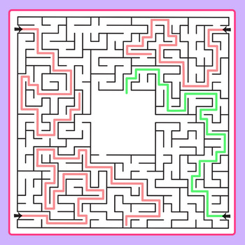 Which Way to the Center of the Maze Clip Art Set for Commercial Use