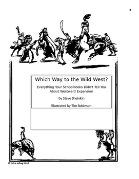 Which Way to the Wild West by Steve Sheinkin Book Unit