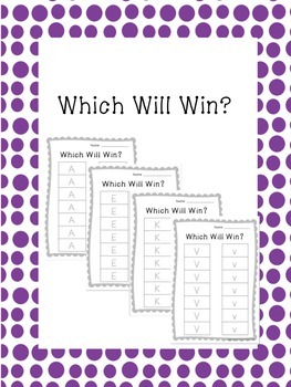 Which Will Win Letter Tracing Game