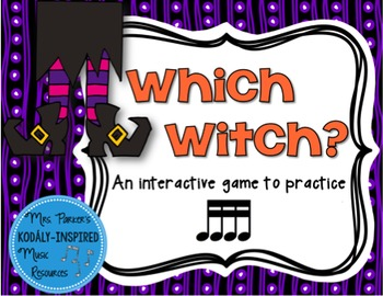 Which Witch? A Halloween-Themed Interactive Aural Game {Sixteenth Note}