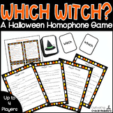 Which Witch?  Halloween Homophone Game