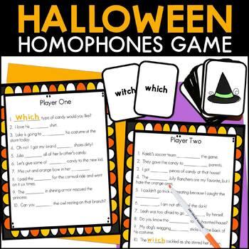 Halloween Homophone Activity