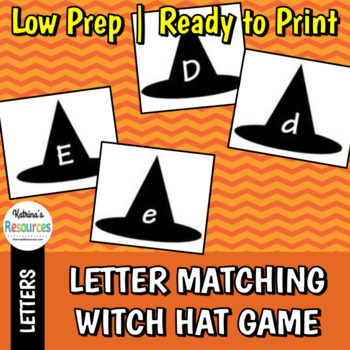 Which Witch? Letter Recognition Matching Game