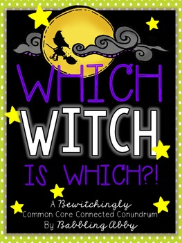 Which Witch is Which?! {A Halloween Unit}