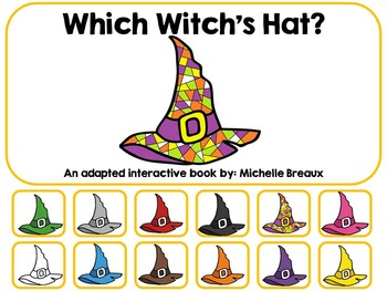 Which Witch's Hat? An Adapted Halloween Book {Pre K, Autism, Special Education}
