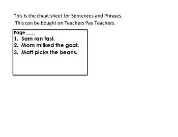 Grammar--- sentences and phrases (sample)