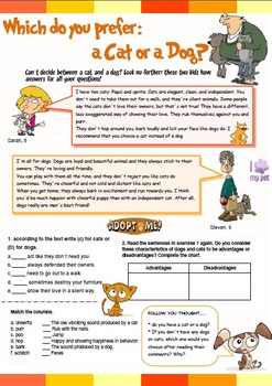 Which do you prefer: a cat or a Dog? Activities for kids