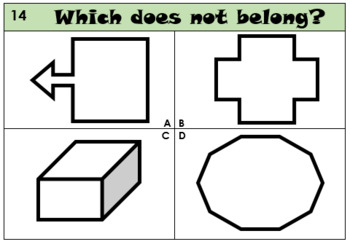 Which does not belong? - Polygons