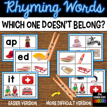 Which doesn't belong - Rhyming Words