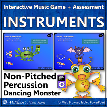 Instruments Interactive Music Game for Non-Pitched Percussion {Dancing Monsters}