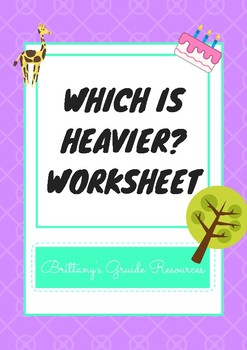 Which is Heavier Worksheet