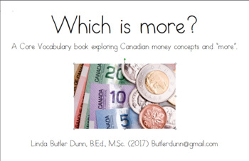 Which is more? Canadian coin and bill booklet/task cards.