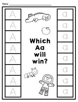 Which letter will win? Letter ID Activity