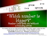 Which number is bigger? A unique number line for comparing and rounding numbers.