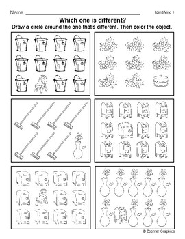 Which one is Different (Long A Words)? Visual Discrimination Activity Sheets
