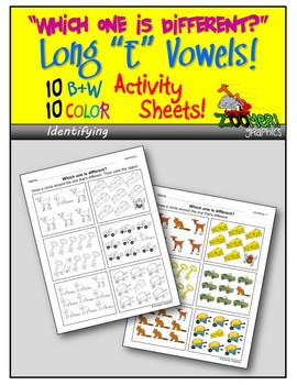 Which one is Different (Long E Words)? Visual Discrimination Activity Sheets