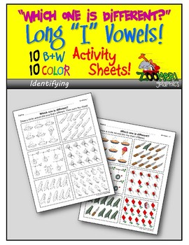 Which one is Different (Long i Words)? Visual Discrimination Activity Sheets