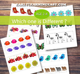 Which one is Different? Visual discrimination Free Printable
