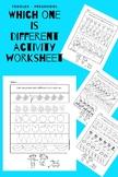 Which one is different (preschool worksheet)